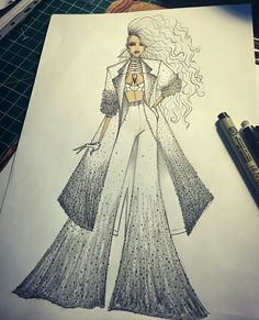 Fashion Design Sketchbook, Fashion Design Drawings, Fashion Sketches, Couture Fashion, Fashion Art, Kpop Anime, Fashion Illustration Dresses, Fashion Vocabulary, Dress Drawing