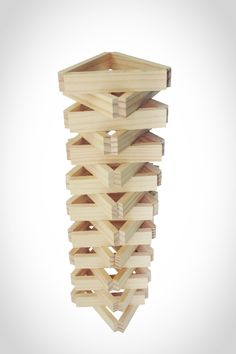 Klik de foto voor een vergroting Wooden Building Blocks, Wooden Blocks, Legos, Cardboard Crafts Kids, Jenga Blocks, Construction For Kids, Block Area, After School Club, Wood Architecture