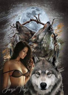Native American Prayers, Native American Images, Wolves And Women, Wolf Photos, Wolf Spirit Animal, Wolf Love, Mythical Creatures Art, Tattooed Women, Dark Beauty