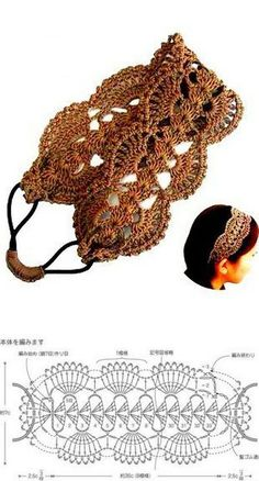 Exceptional Stitches Make a Crochet Hat Ideas. Extraordinary Stitches Make a Crochet Hat Ideas. Bandeau Crochet, Crochet Hairband, Crochet Bracelet, Diy Headband, Crochet Earrings, Crochet Jewelry Patterns, Crochet Hair Accessories, Hat Patterns, Jewelry Accessories