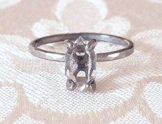 Silber Ring mit Verzierung Oxidiert Massiv Echt 925 Sterling Hochglanz