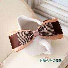 Feito À Mão da moda coreana senhora garota presente Grade Arco Presilha Cabelo Cor De Fita Faixa