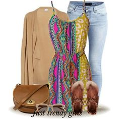 tribal boho dress printed skirt  Mix and match your summer wear see collection http://www.justtrendygirls.com/mix-and-match-summer-casual-wear/