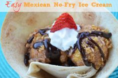 Mexican No Fry Ice Cream Recipe