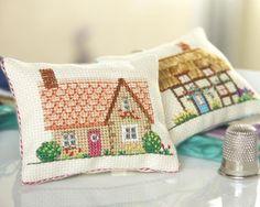 Tiny cross-stitch cushion_ Holly Hawthorn's Cottage & Holly Hawthorn's Cottage_£6 each