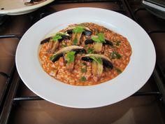 Risotto   au  creme  de  poivron   et  champignons   Gino D'Aquino.