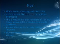 Colors and Emotions Slide #5 The Color Blue by MusicSoul12 on deviantART