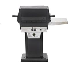 Pgs Tseries T30 Commercial Cast Aluminum Freestanding Propane Gas Grill  With Timer On Black Patio Base