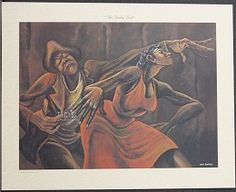 Ernie Barnes The Funky Butt Lithograph # This print is one of twelve from the Beauty of The Ghetto Collection. African American Art, African Art, Black Love Artwork, Ernie Barnes, Modern Art Artists, Renaissance Artists, Historical Art, Afro Art, Urban Art