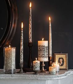 Paint your own lace-covered candles. #halloween #crafts