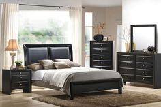 5 Piece Black Bedroom Set