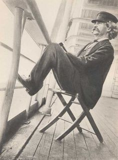 Mark Twain on a riverboat