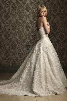 Herz-Ausschnitt Prinzessin Kapelle Schleppe Lace volle länge elegantes & luxuriöses formelles Brautkleid