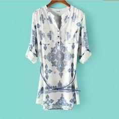 Women blouses fashion V-neck long sleeve shirts TL-NRB0715CSZCK
