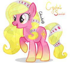 Ponysona OC: Crystal Sunrise, first crystal pony OC, Based off MLP:FIM by Hasbro, original character design by Lauren Faust Created in Adobe Illustrator + Photoshop for overlay made crystal texture Mlp My Little Pony, My Little Pony Friendship, Mlp Adoption, Crystal Ponies, Crystal Texture, Mlp Fan Art, Fanart, Little Poney, Imagenes My Little Pony