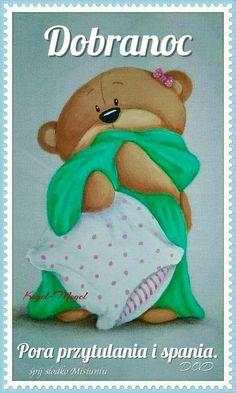 Dobranoc.💗 spokojnej nocy Cartoon Drawings, Cute Drawings, Good Night Meme, Cartoon Charecters, Teddy Bear Pictures, Blue Nose Friends, Country Paintings, Bear Wallpaper, Cute Teddy Bears