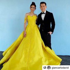 """the Belle of the Philippines Pop Star Princess Sarah Geronimo (justsarahgph) with Jason Dy sang Beauty and Beast in @asapofficial 3/12/2017.  She was also been chosen by #Disney to re-interpret her own version of """"The Glow"""" the theme song of it's highly popular princess franchise """"Tangled"""". Photo credits to @giancarlodavid Styled by @bangbangstylecrew Gown by  @michaelleyva_ Jewelry by @mixedgems Makeup by @carmidavid914 Hairby @hairbybrentses  #popstarprincess #lovedisney #disneylove…"""