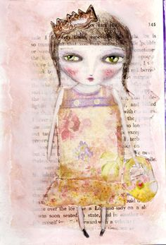 Whimsical Owls and Other Mixed Media Art From the Heart by Juliette Crane: how to paint a girl