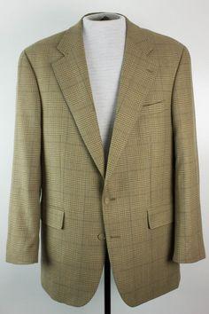 Ralph Lauren Dillards Mens 42T Silk Wool Blend Blazer Jacket Sport Coat #RalphLauren #TwoButton