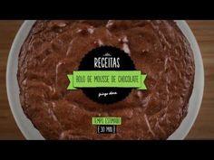 Bolo de mousse de chocolate Food Cakes, Chocolate Recipes, Chocolate Cake, Good Food, Yummy Food, No Bake Cake, Tapas, Cake Recipes, Bakery