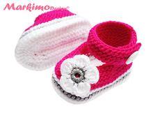Babyschuhe Mary Janes Baby Ballerinas Pink Weiß Grau Laura