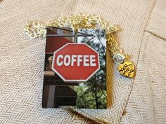 """Style with Mind necklace """"Coffee"""". www.magne.ie"""