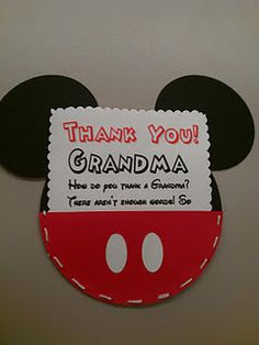 Thank You Mickey Birthday notes