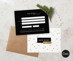 Gold confetti double sided gift certificate template - EDITABLE Gift Certificate Template, Gift Certificates, Gold Confetti, All Fonts, Print Templates, Thank You Cards, Wedding Invitations, Thing 1, Business