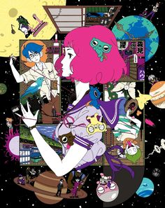 The beautiful Blu-ray covers for my all time favorite anime, The Tatami Galaxy. These were illustrated by Yusuke Nakamura, who is most notable for his cover designs for Asian Kung-Fu Generation.