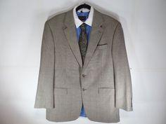 44L Ralph Lauren Silk Plaid Houndstooth Mens Sport Coat Blazer Suit Jacket  #LaurenRalphLauren #TwoButton