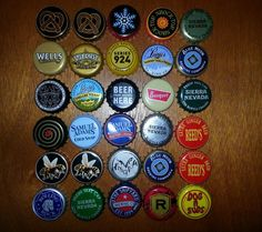 Assortment Of Beer And Soda Bottle Caps