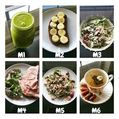 Today's meals!  M1 ○ green protein shake M2 ○ rye toast with @wild_friends vanilla expresso almond butter with banana. M3 ○ salad M4 ○ ham & egg sandwhich with basil & feta. M5 ○ salad M6 ○ Jasmin tea & dates for dessert I was also tagged #widn by the lovely @melissa.bbg & I'm sitting in my pj's drinking tea & watching Netflicks .