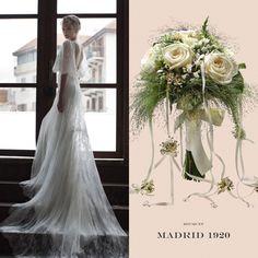 A la hora de elegir el estilo de tu #ramo de #novia tienes que tener en cuenta el diseño del #vestido, que es el que marcará la temática general de la #boda, por ejemplo una #vintage...