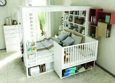 Best baby cribs ideas co sleeper 47 ideas Bed Storage, Storage Spaces, Storage Shelves, Co Sleeper Bed, Family Bed, Best Baby Cribs, Baby Bedroom, Bedroom Setup, Awesome Bedrooms