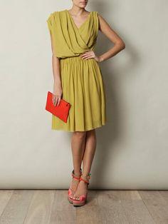Yellow/Green Grecian dress