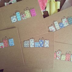 New home cards. Do It Yourself Inspiration, Card Making Inspiration, Cool Cards, Diy Cards, New Home Cards, Card Tags, Paper Cards, Creative Cards, Paper Piecing