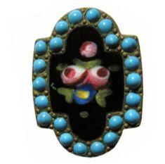 Antique Enamel Button