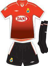 RCD Espanyol away kit for 2003-04.