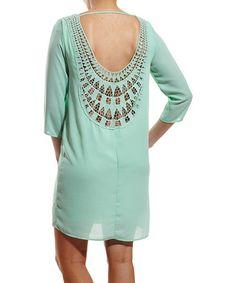Look what I found on #zulily! Mint Crochet-Back Dress #zulilyfinds