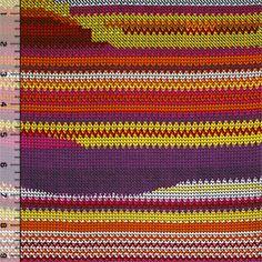 Sunset Arrow Head Stitches Cotton Jersey Blend Knit Fabric