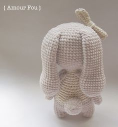 Bruna - Free Crochet Pattern by {Amour Fou} Crochet Bunny Pattern, Crochet Dolls Free Patterns, Crochet Blanket Patterns, Crochet Home, Crochet Crafts, Free Crochet, Knit Crochet, Knitted Bunnies, Crochet Crop Top