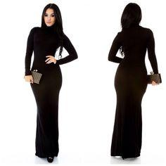 Kimberly Black Turtleneck BodyCon Dress