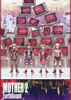 Custom EarthBound Mother 2 Silk Poster Wall Decor