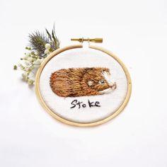 Embroidery of my Guinea pig Stoke :-D . . . . #needlework #needlepainting #fiberart #guineapig #cavyoftheday #caviesoninstagram #guineapiglover #petart #instaart #contemporaryembroidery #embroideryhoop