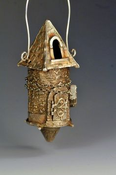 Rapunzel's tower by Christi Anderson. $850.00, via Etsy. (metal clay)