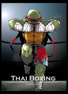 Teenage Mutant Muay Thai Turtles has a good ring to it. Muay Thai, Ninja Turtles Art, Teenage Mutant Ninja Turtles, Creation Art, Manga Comics, Animes Wallpapers, Comic Books Art, Martial Arts, Cartoon