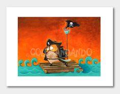 Illustrazioni - Illustrazione Stampa - Alla conquista dei sogni  - un prodotto unico di Colorandando su DaWanda
