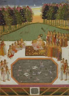 Attributed to the Nagaur Master. Maharaja Bakhat Singh Delights in an Outdoor Musical Performance. India, Nagaur, 1737
