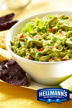 This Creamy Chipotle Avocado Dip is actually made creamier with the great taste of Best Foods Mayonnaise. Mash ripe avocados with the mayonnaise, tomato, red onion and chipotle. Dip on in. Guacamole Recipe With Mayonnaise, Guacamole Dip, Avocado Dip, Mexican Food Recipes, Vegetarian Recipes, Cooking Recipes, Healthy Recipes, Dip Recipes, Chipotle