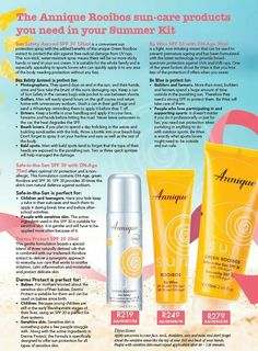 The Annique Rooibos suncare products you need in your summer bag.